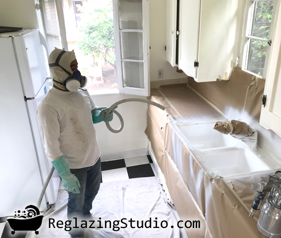 kitchen sink reglazing california